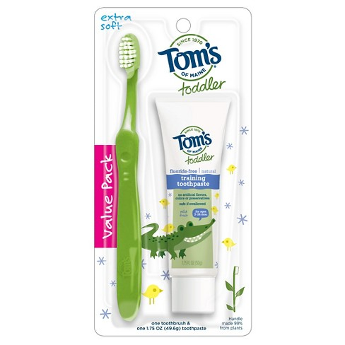 Tom's of Maine Toddler Toothpaste & Toothbrush Set - image 1 of 1