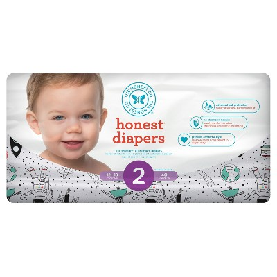 Honest Company Diapers, Space Travel - Size 2 (40ct)