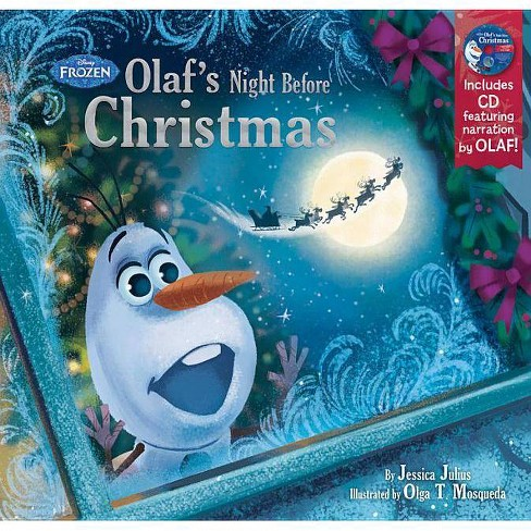 Frozen Christmas.Olaf S Night Before Christmas Frozen Mixed Media Product By Jessica Julius