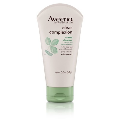 Aveeno Clear Complexion Cream Cleanser With Salicylic Acid - 5 fl oz