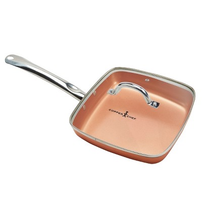 As Seen on TV Copper Chef 9.5  Square Pan with Glass Lid