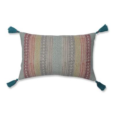 Caravan Stripe Lumbar Throw Pillow Cream - Pillow Perfect