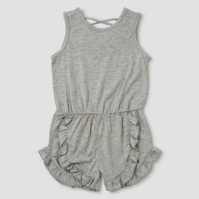 Toddler Girls' Afton Street Sleeveless Ruffle Romper - Heather Gray 18M