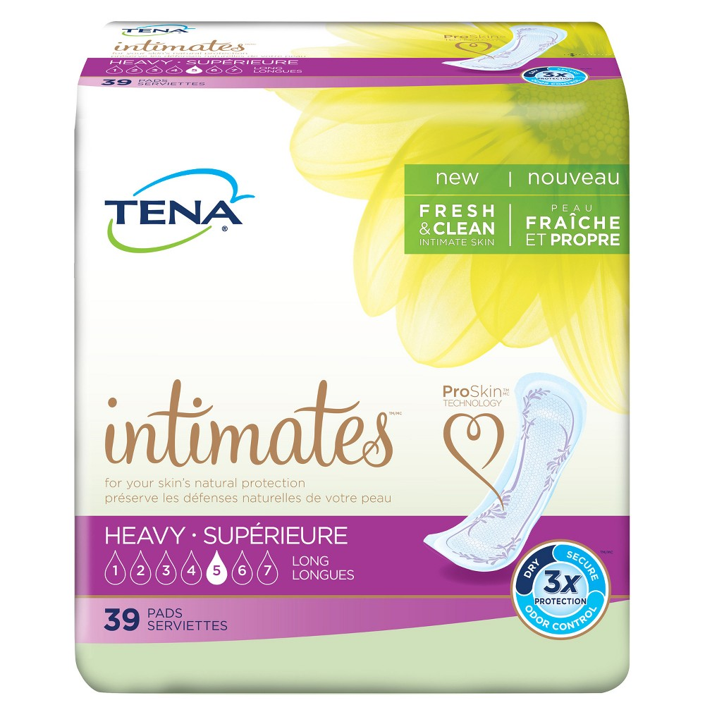Tena Incontinence Pads for Women - Heavy/Long - 39ct, White