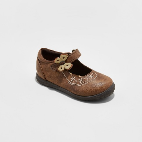 Toddler Girls' Rachel Shoes® Mary Jane Shoes Vienna - Tan 11 - image 1 of 3