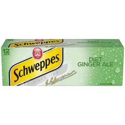 Diet Schweppes Ginger Ale - 12pk/12 fl oz Cans