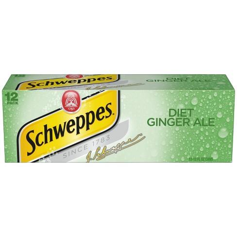 Diet Schweppes Ginger Ale - 12pk/12 fl oz Cans - image 1 of 3