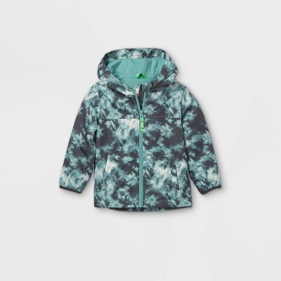 Toddler Boys' Tie-Dye Windbreaker Jacket - Cat & Jack™ Blue