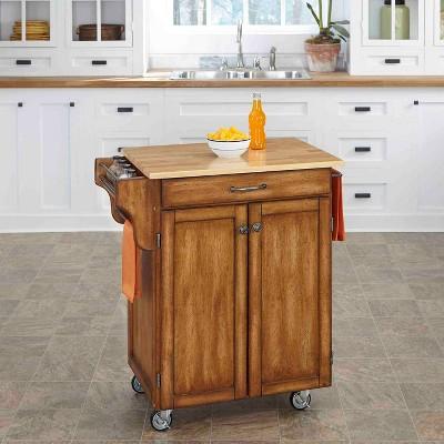 Cuisine Kitchen Cart Oak Brown Base - Home Styles