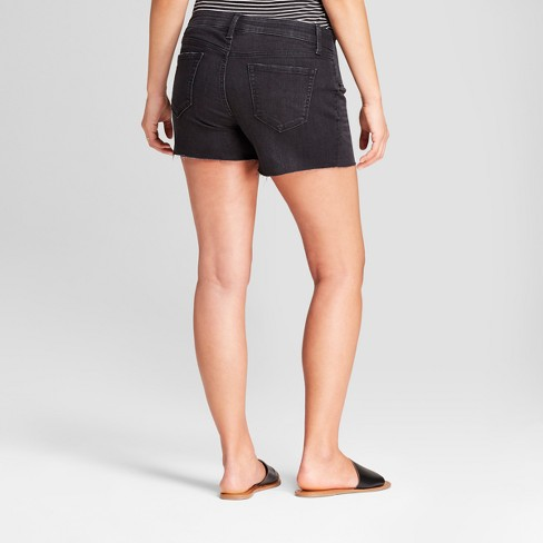Maternity Inset Panel Midi Jean Shorts - Isabel Maternity by Ingrid &  Isabel™ Black wash 16