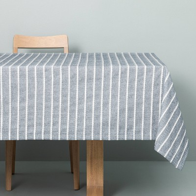 Dobby Ribbed Tablecloth Faded Blue - Hearth & Hand™ with Magnolia