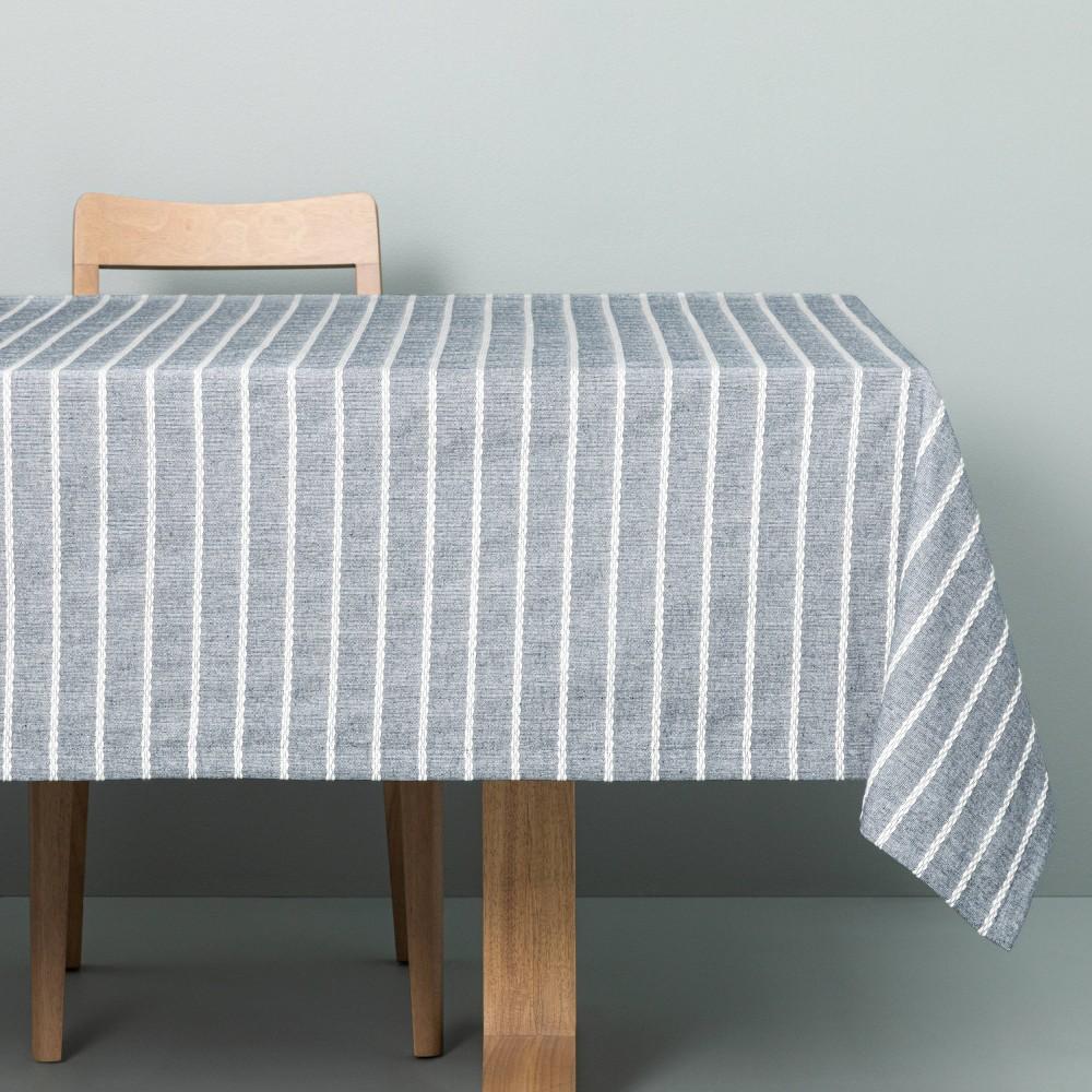 Dobby Rib Knit Tablecloth Faded Blue Hearth 38 Hand 8482 With Magnolia