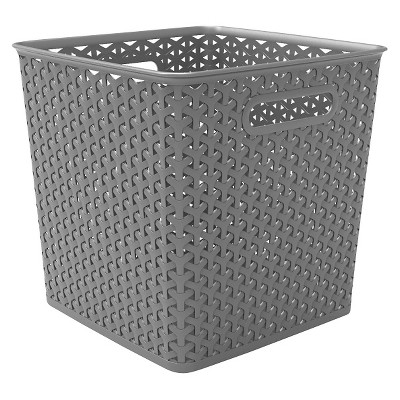 "Y-Weave 11"" Cube Decorative Storage Basket - Room Essentials™"