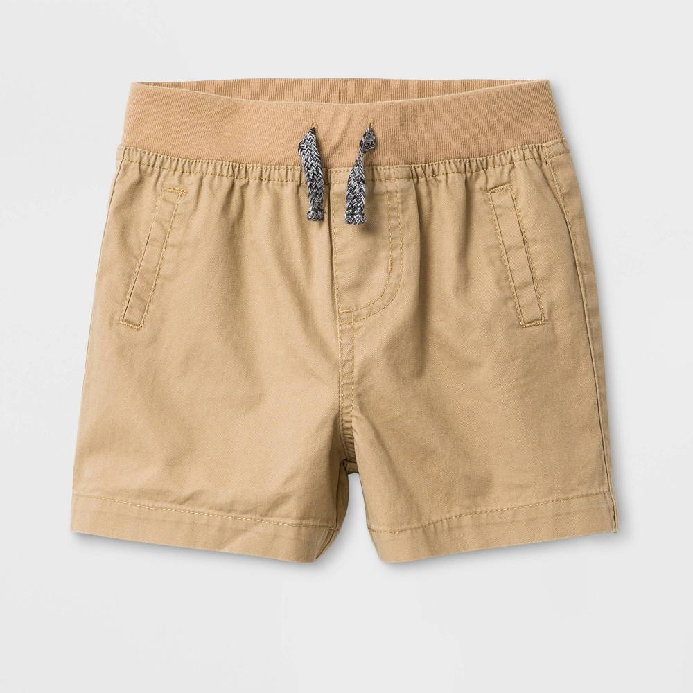 Image of Baby Boys' Twill Chino Shorts - Cat & Jack Tan 0-3M, Boy's, Brown