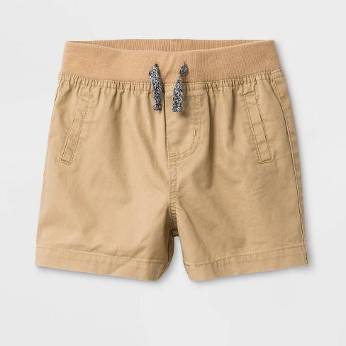 Baby Boys' Twill Chino Shorts - Cat & Jack™ Tan - image 1 of 2