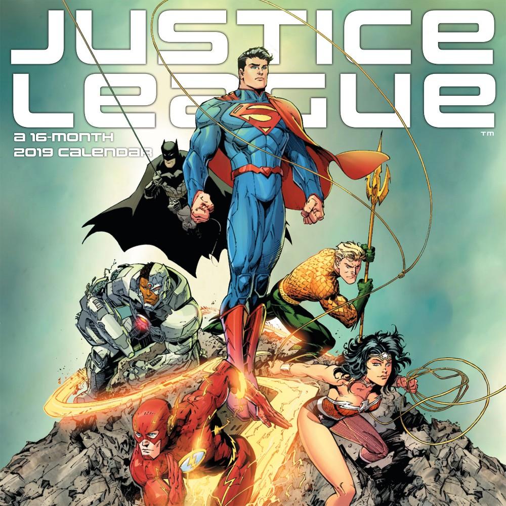 2019 Wall Calendar The Justice League Classic - Trends International, Multi-Colored