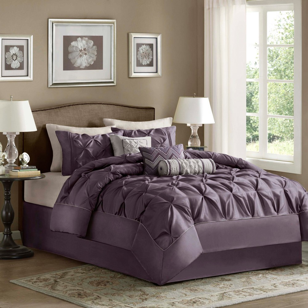 Piedmont 7 Piece Comforter Set - Plum (Purple) (King)