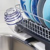 mDesign Large Kitchen Counter Dish Drying Rack with Swivel Spout - image 4 of 4