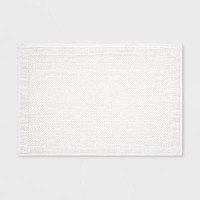 30 x21  Performance Textured Bath Mat White - Threshold™