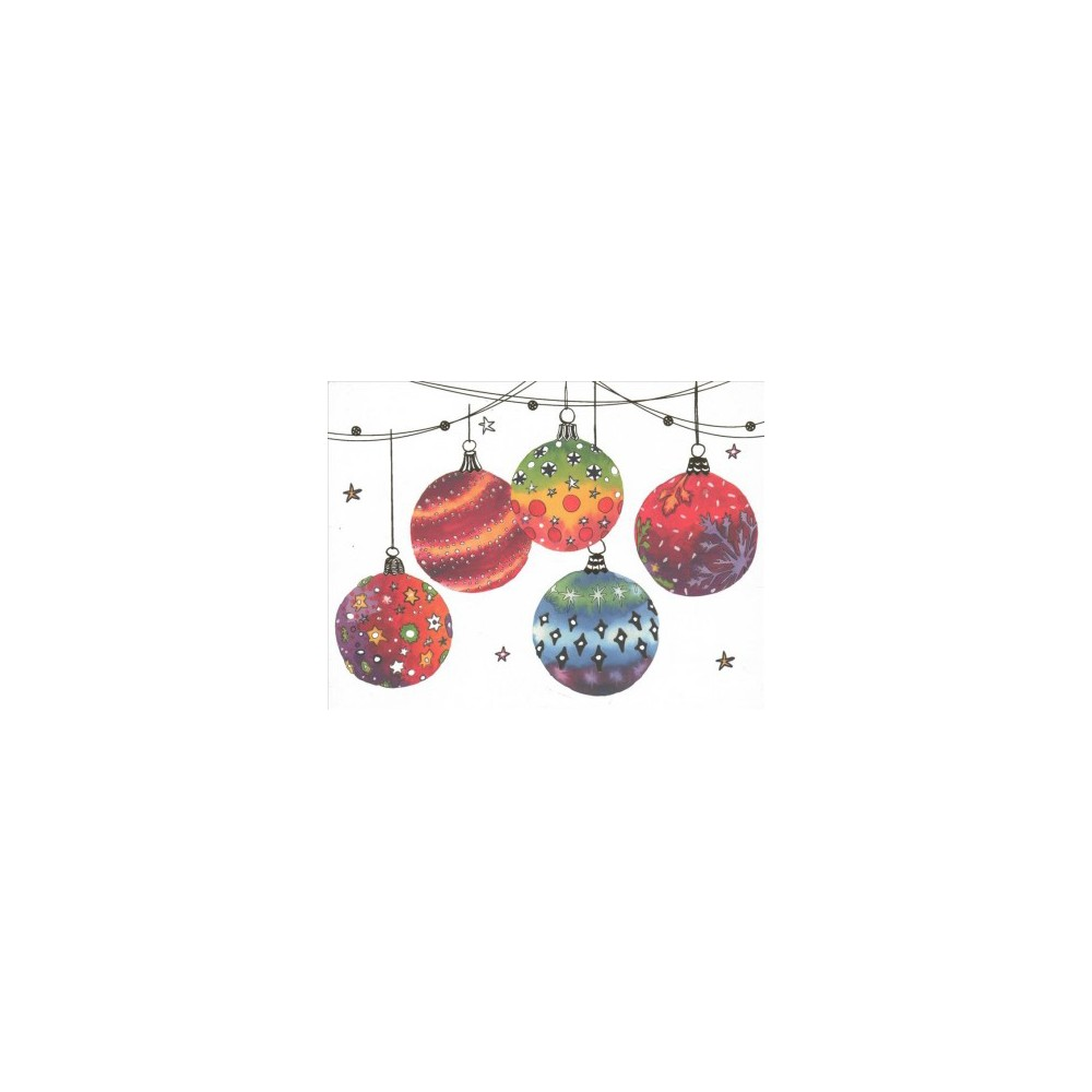Festive Ornaments Deluxe Holiday Cards - (Stationery) Festive Ornaments Deluxe Holiday Cards - (Stationery)