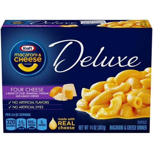 Kraft Macaroni & Cheese Deluxe Four Cheese 14 oz - image 1 of 3