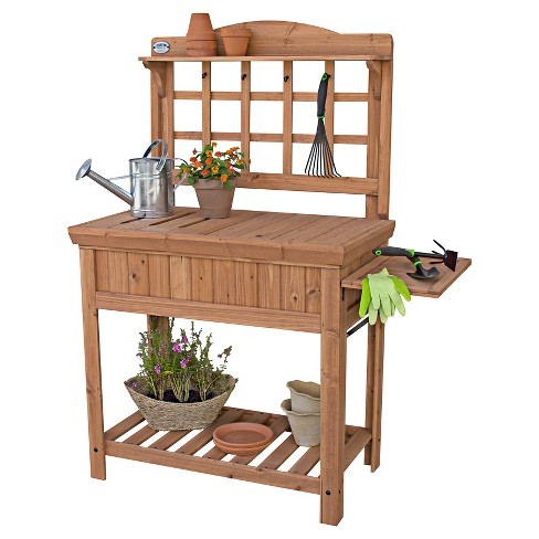 Potting Bench With Removable Top, Folding Shelf - Bronze - Backyard Discovery - image 1 of 5