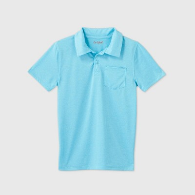 Boys' Short Sleeve Performance Polo Shirt - Cat & Jack™ Turquoise