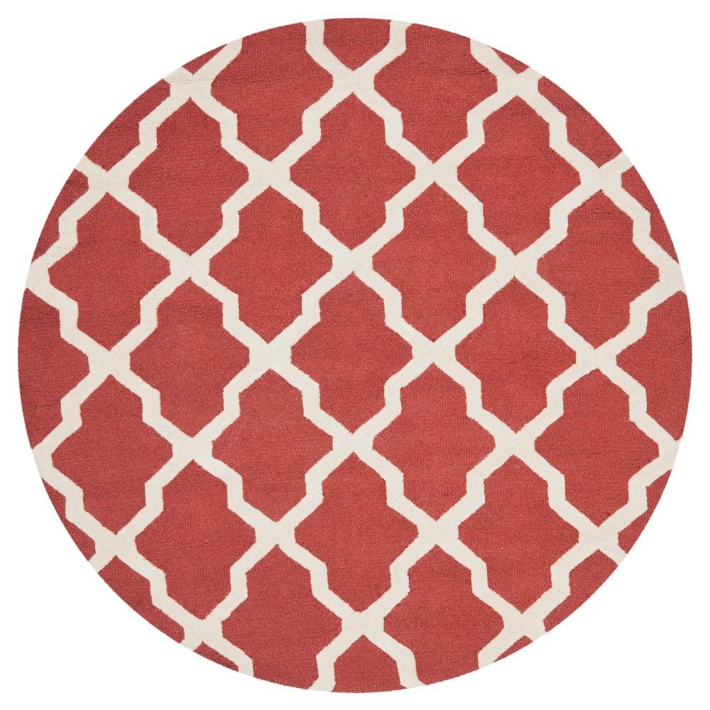 Maison Textured Rug - Rust / Ivory (6'X6') - Safavieh, Red/Ivory