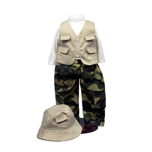 The Queen's Treasures® 18 Inch Doll Clothes And Accessories, Fishing Outfit, Hat, Pants, Shirt, Vest - image 1 of 7