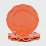 11 4pk Melamine Perlette Dinner Plates Teal Certified International Target