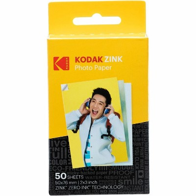 "Kodak 2""x3"" Premium Zink Photo Paper  Compatible with Kodak Smile, Kodak Step, PRINTOMATIC"