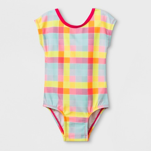 Toddler Girls' Sleeved One Piece Swimsuit with Bow - Cat & Jack™ - image 1 of 2