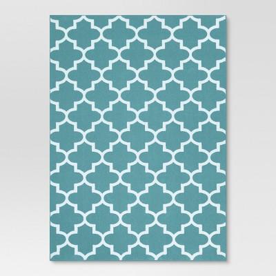 2'6 X4' Geometric Accent Rug Turquoise - Threshold™