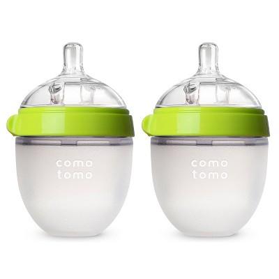 Comotomo Silicone Bottle 5-Oz (2 Pack)- Green