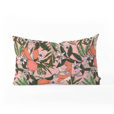 Marta Barragan Camarasa Olives In The Orange Flowers Oblong Lumbar Throw Pillow Pink - Deny Designs