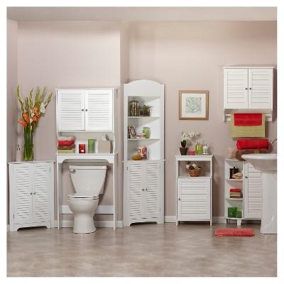 ellsworth cabinet side shelves white espresso riverridge target rh target com