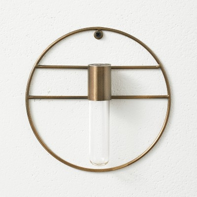 """7"""" x 1.5"""" Wall Mounted Metal Plant Stand Vessel - Hilton Carter for Target"""