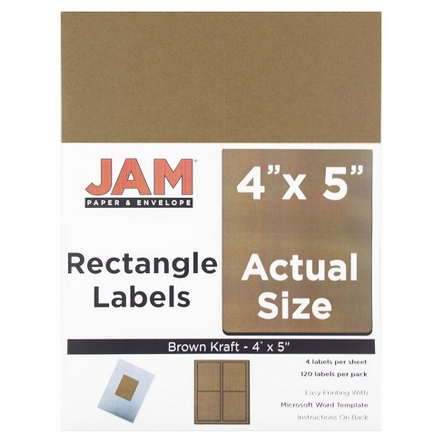 "JAM Paper® Shipping Labels 4"" x 5"" 120ct - image 1 of 2"