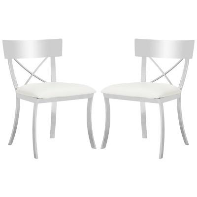 Set of 2 Dining Chairs White - Safavieh