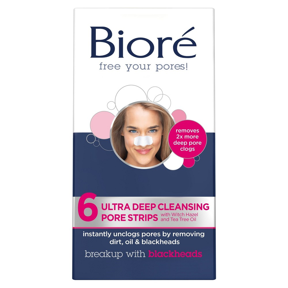 Biore Deep Cleansing Pore Nose Strips 6 ct