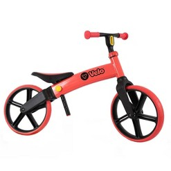 Yvolution Y Velo Senior No Pedals Training Balance Bike for Kids Ages 3 to 5 Years Old - Red, Kids Unisex