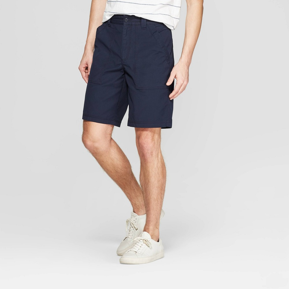 Men's 9.5 Relaxed Fit Chino Shorts - Goodfellow & Co Blue 30