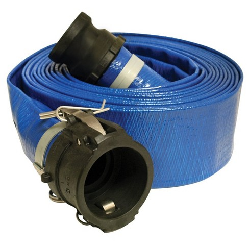 Apache 98138066 50 Foot Standard Duty PVC Flat Discharge Hose with Poly Cam Lock - image 1 of 2