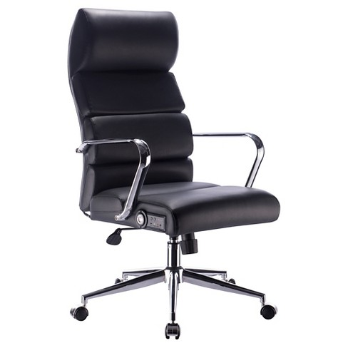 Deluxe Executive Office Chair With Sound Black Chrome X Rocker
