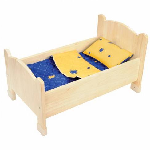 Kaplan Early Learning Company Wooden Doll Bed With Target