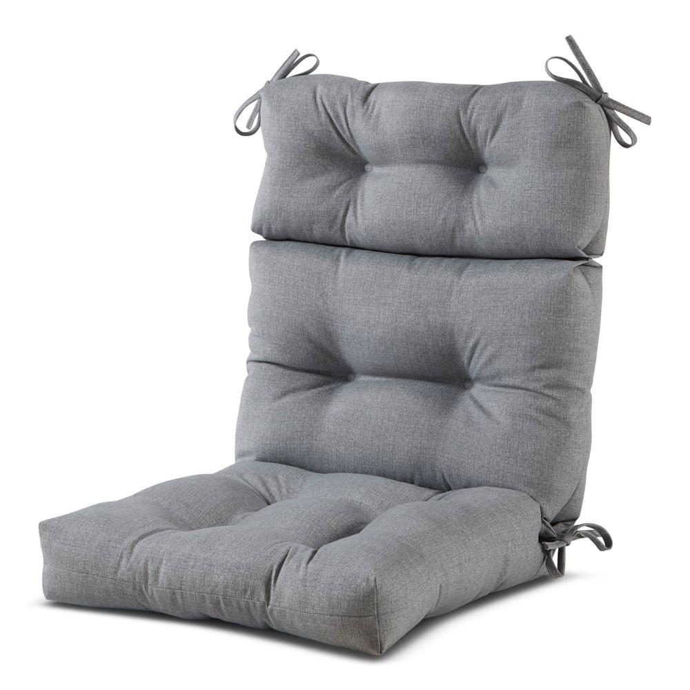 Image of Outdoor High Back Chair Cushion Heather Gray - Kensington Garden