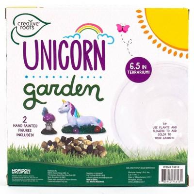 "Creative Roots Unicorn Garden with 6.5"" Terrarium"