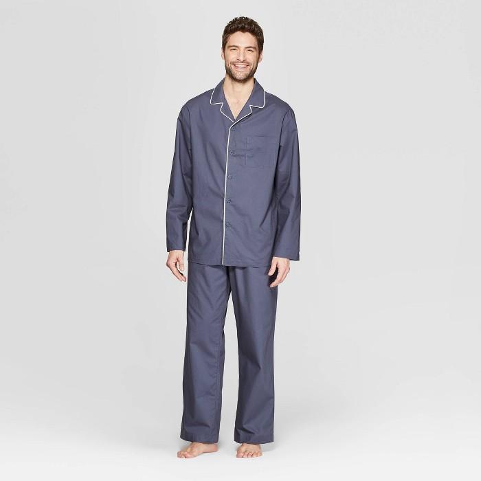 Men's Woven Pajama Set - Goodfellow & Co™ Blue - image 1 of 2