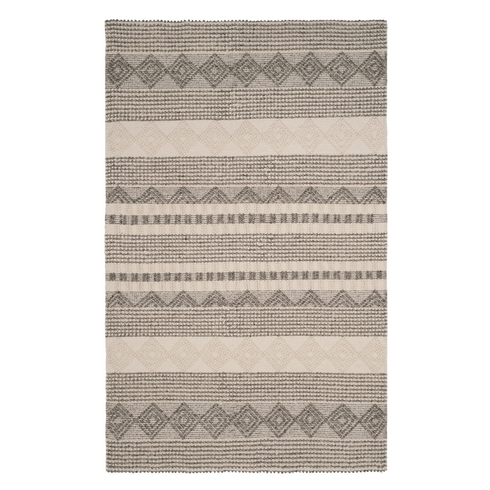 10'X14' Geometric Woven Area Rug Gray/Ivory - Safavieh