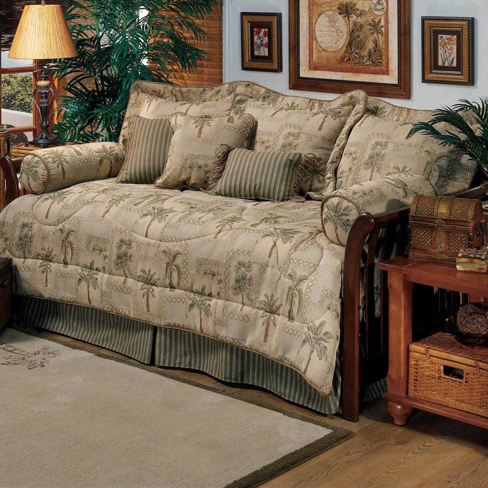 Image of 5pc Twin Palm Grove Daybed Set - Karin Maki, Beige